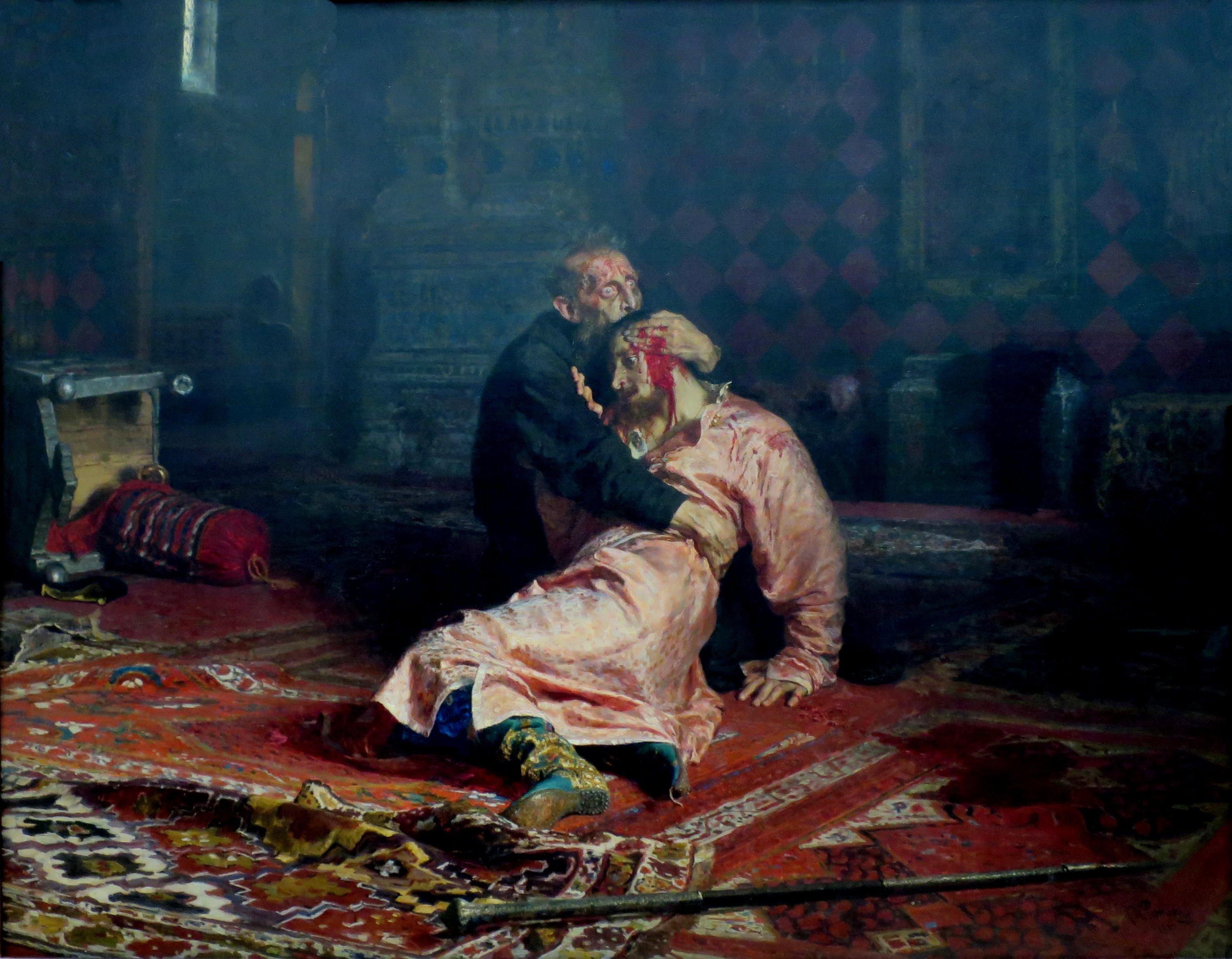 Иван Грозный и сын его Иван 16 ноября 1581 года, И. Е. Репин