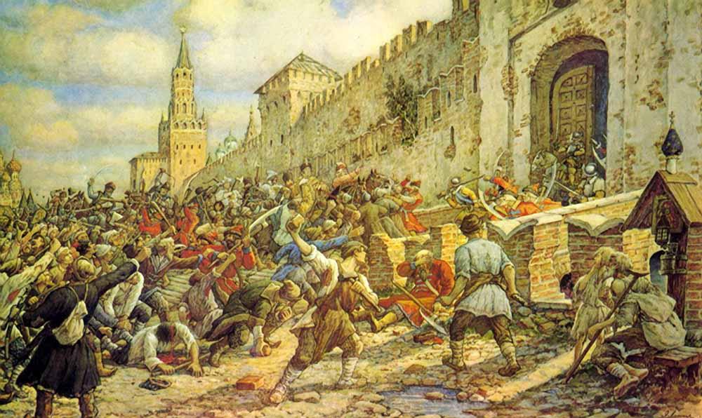 Соляной бунт, художник Эрнест Лисснер