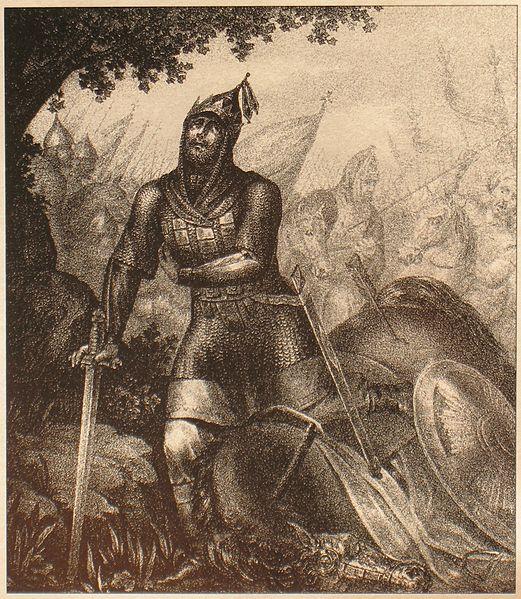 Дмитрий Донской, получивший рану в битве с Мамаем, на Куликовом поле. Борис Артемьевич Чориков