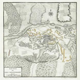 Битва при Гросс-Егерсдорфе, карта-схема