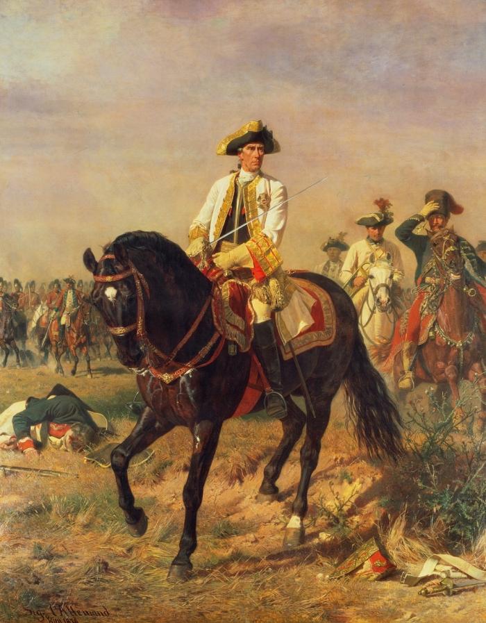 Лаудон в победной позе в Кунерсдорфском сражении, Зигмунд Л'Аллеман