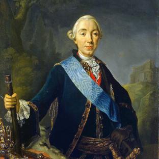 Коронационный портрет императора Петра III Федоровича, Л. К. Пфанцельт