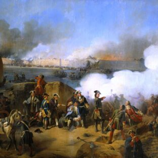 Штурм крепости Нотебург (в центре изображен Петр I), А. Е. Коцебу