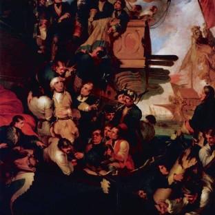 Взятие в плен шведского контр-адмирала Эреншельда в Гангутском сражении, Роберт Кер Портер
