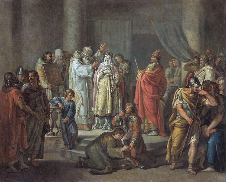 Крещение княгини Ольги, Иван Акимович Акимов