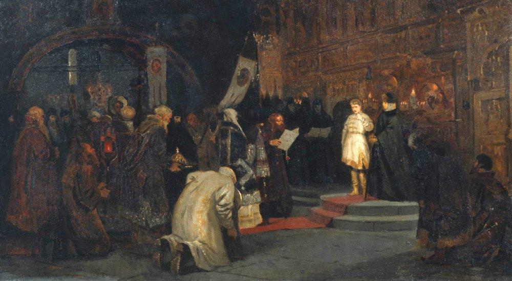Призвание Михаила Федоровича на царство, Михаил Васильевич Нестеров