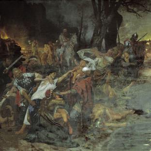 Воины Святослава в битве при Силистрии, Генрих Ипполитович Семирадский