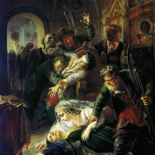 Агенты Дмитрия Самозванца убивают сына Бориса Годунова, Константин Егорович Маковский