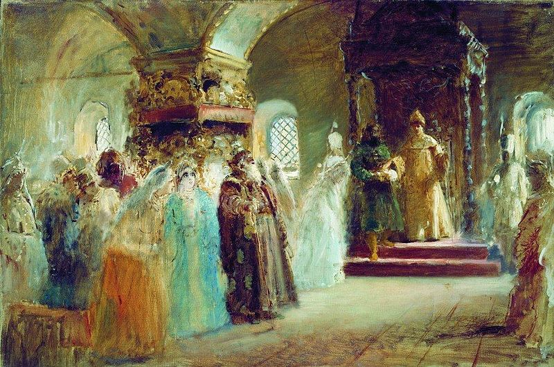 Выбор невесты царем Алексеем Михайловичем, Константин Егорович Маковский