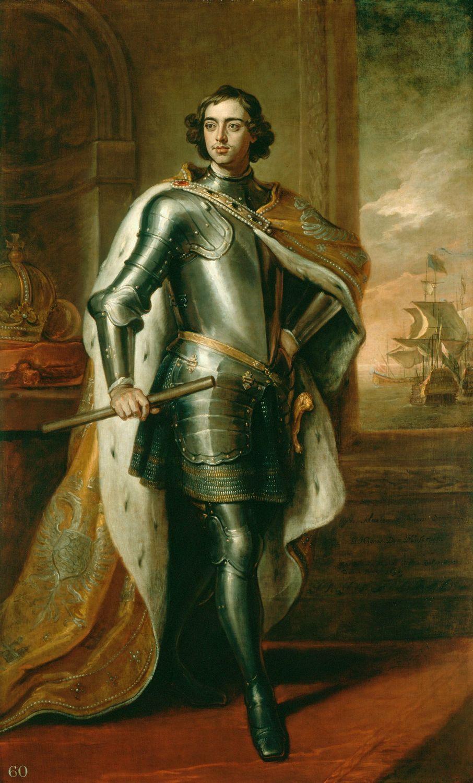 Портрет русского царя Петра I Великого, Готфрид Кнеллер