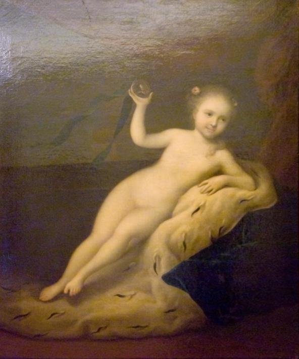 Портрет юной царевны Елизаветы в образе Флоры, Луи Каравак