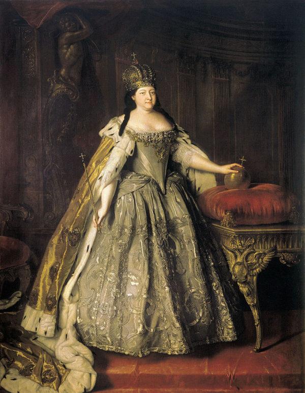 Портрет императрицы Анны Иоанновны, Луи Каравак