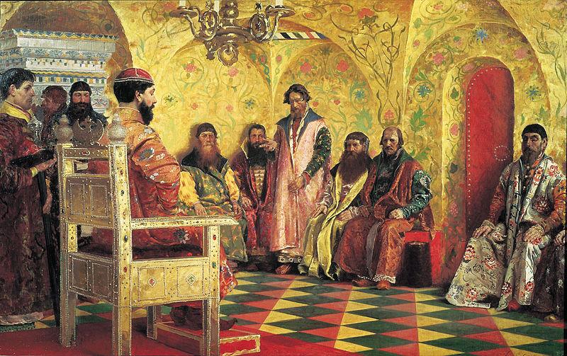 Сидение царя Михаила Федоровича с боярами в его государевой комнате, Андрей Петрович Рябушкин
