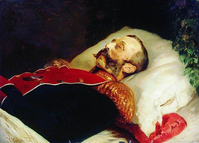 «Портрет Александра II на смертном одре», Константин Егорович Маковский
