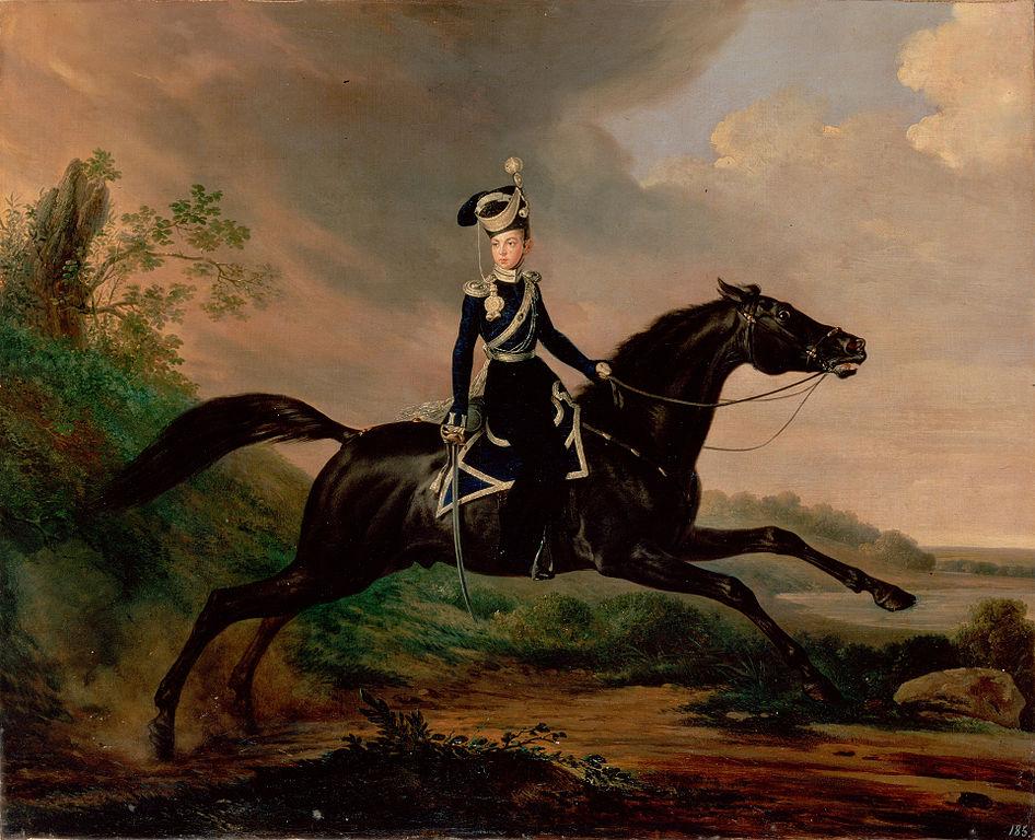 Великий князь Александр Николаевич на коне, Франц Крюгер