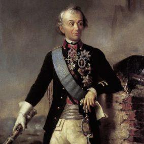 Портрет А. В. Суворова с фельдмаршальским жезлом, автор неизвестен