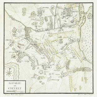 Битва при Крефельде, карта-схема