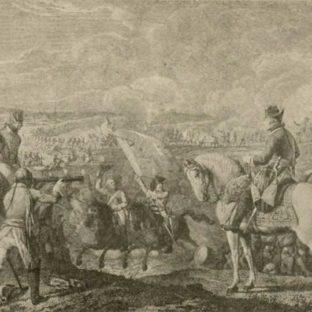 Фридрих II в битве при Росбахе