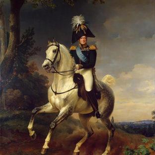 Портрет Александра I верхом на коне, Франц Крюгер