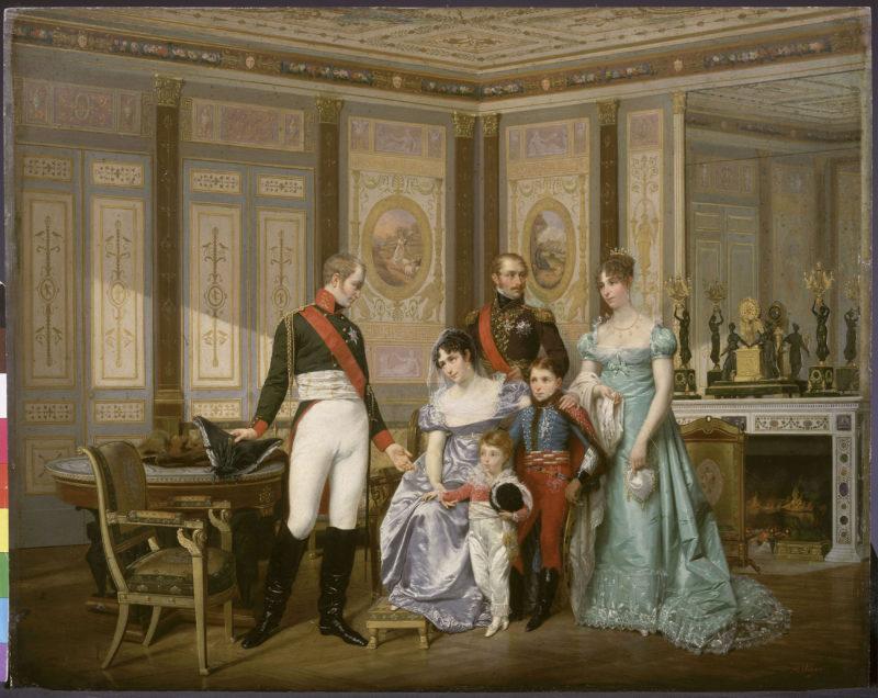 Александр I с императрицей Жозефиной и ее семьей, автор неизвестен
