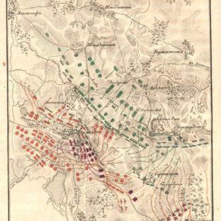 Битва при Прейсиш-Эйлау, карта (часть вторая), А. И, Михайловский-Данилевский