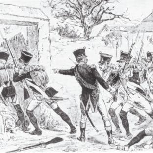 4-й линейный полк дивизии Карра-Сен-Сир IV корпуса маршала Массена штурмует деревню Адерклаа, Дэвид Чандлер