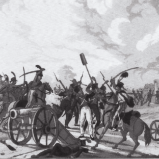 Австрийские гусары захватывают орудия, недалеко от деревни Асперн, Дэвид Чандлер