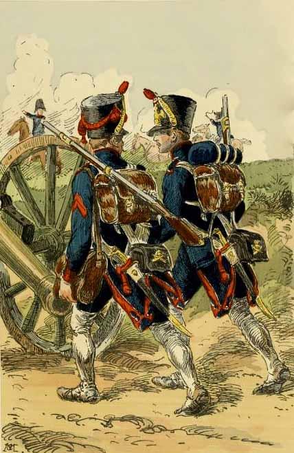 Французская пехотная артиллерия в походе в 1809 году, автор неизвестен