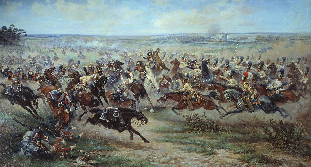 Атака русской лейб-гвардии в битве под Фридландом, В. В. Мазуровский