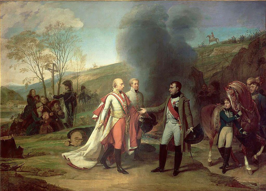 Встреча Наполеона I и Франциска II после битвы при Аустерлице, Антуан-Жан Гро