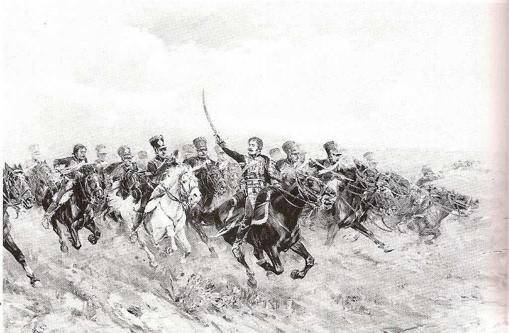 Генерал Ласалль и его кавалеристы атакуют в Ваграме, Гвидо Сигрист