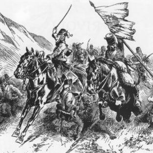Командир Ласалль в битве при Риволи, Виктор Юэн