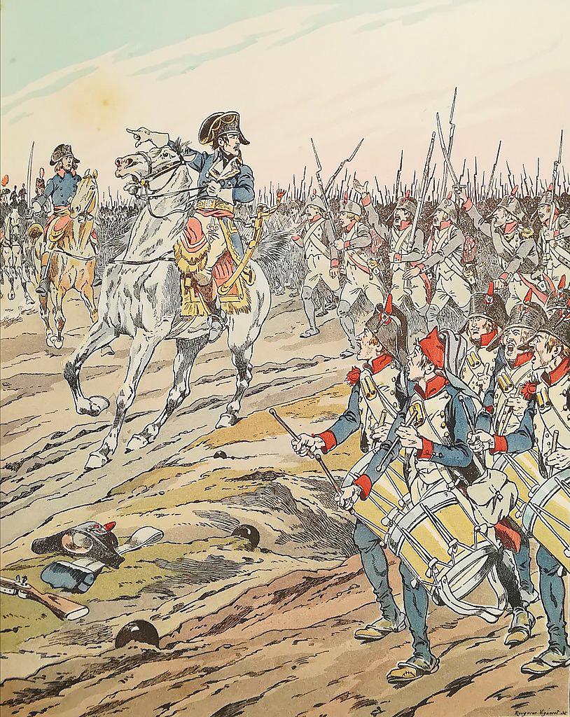 «Помните, что я привык спать на поле битвы»: Бонапарт своим солдатам в битве при Маренго, 14 июня 1800 г., Жак Мари Гастон Онфруа де Бревилль