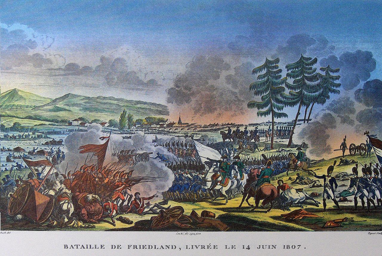 Битва при Фридланде, раскрашенная, Карл Вернет и Жак Франсуа Свеб