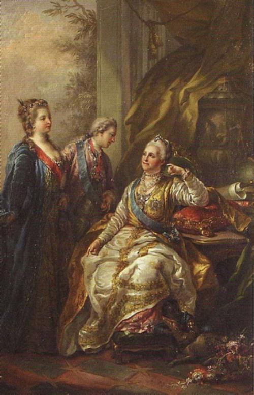 Великий князь Павел Петрович представляет императрице Екатерине II свою невесту, будущую великую княгиню Марию Федоровну, Стефано Торелли