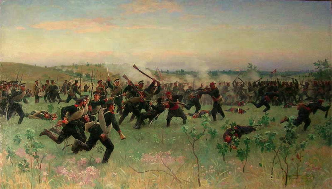 Штыковой бой полков русской гвардии с турецкой пехотой на Систовских высотах 14 июня 1877 года, Н. Д. Дмитриев-Оренбургский