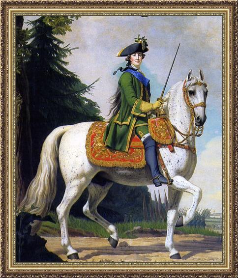Поход на Петергоф (конный портрет Екатерины II Великой), В. Эриксен