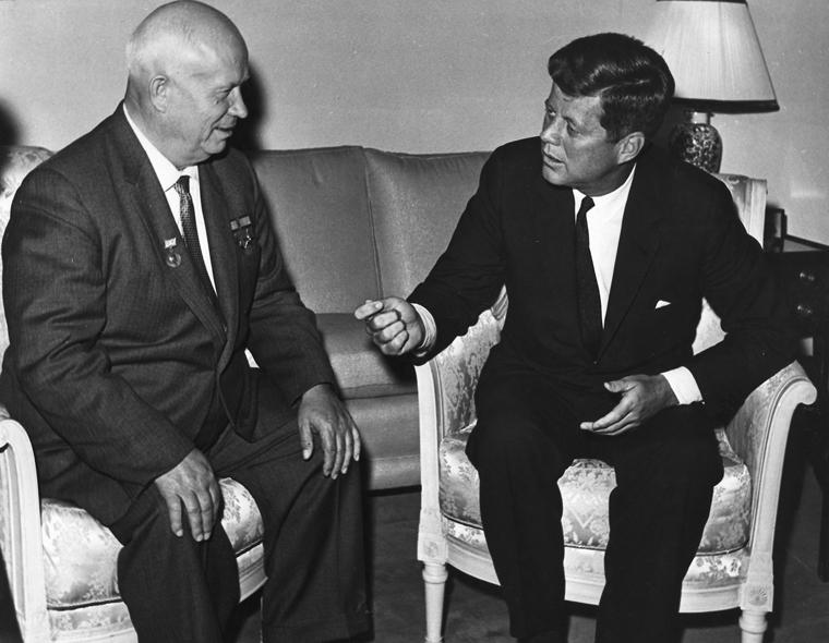 Встреча Джона Ф. Кеннеди с Никитой Сергеевичем Хрущевым в Вене, автор неизвестен
