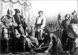 Иван Исаевич Болотников является с повинной перед царем Василием Шуйским, автор неизвестен