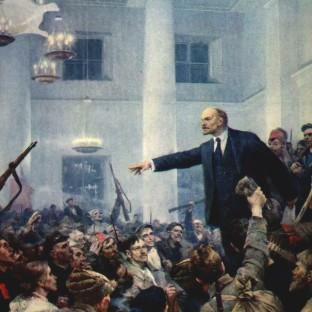 Ленин провозглашает Советскую власть, В. Серов