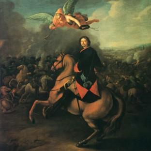 Петр I в Полтавской битве, Иоганн Готфрид Таннауер