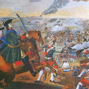 Полтавская битва, мозаика М. Ломоносова