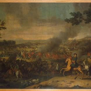Петр Великий в Полтавской битве, Луи Каравак