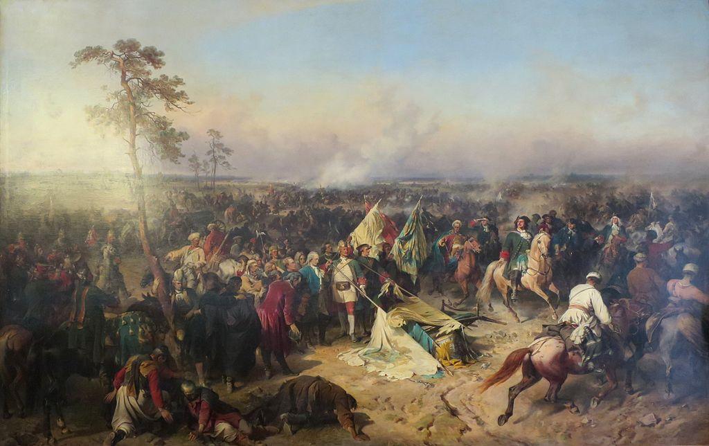 Полтавская победа, художник Коцебу Александр Евстафиевич