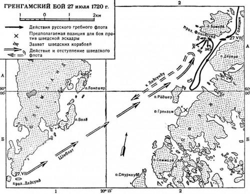 Гренгамское сражение, карта