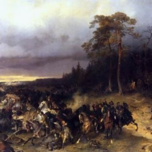 Сражение русских со шведами при деревне Лесной 28 октября 1708 года, А. Е. Коцебу