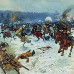 Атака шведов ярославскими драгунами у деревни Эрестфер 29 декабря 1701 года, М. Б. Греков
