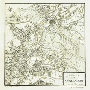 Битва при Кунерсдорфе, карта-схема