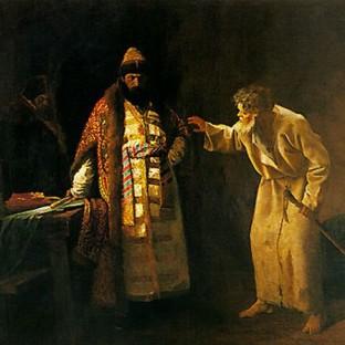 Иоанн Грозный в келье Николы Юродивого, во Пскове, Иван Андреевич Пелевин