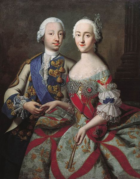 Цесаревич Петр Федорович и великая княгиня Екатерина Алексеевна, Георг Христофор Грот